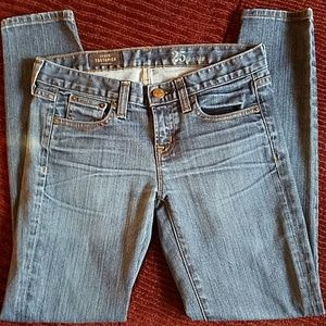 J.Crew toothpick ankle skinny Jeans size 25